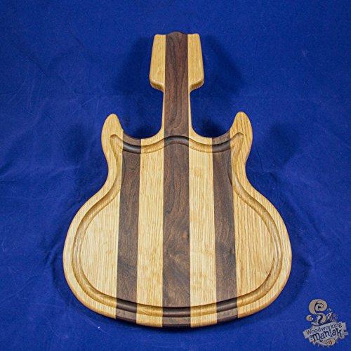 Walnut & White Oak Guitar Cutting Board