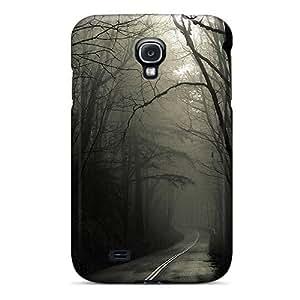 [TTGJpBe5284QpOsP]premium Phone Case For Galaxy S4/ Dark Road Forest Tpu Case Cover