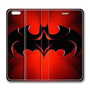 Creative Batman Logo Standing Leather Smart Cover Case Exclusive for iPhone 6 with 4.7 inch Screen