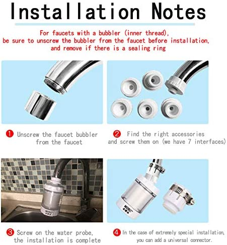 Water Purifier White Can Rotate 360 /°The Kitchen Water Faucet Filters Filtration System PP Cotton M-003