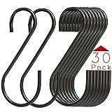 30 Pack Black S Hooks,Heavy Duty Metal Hooks Can