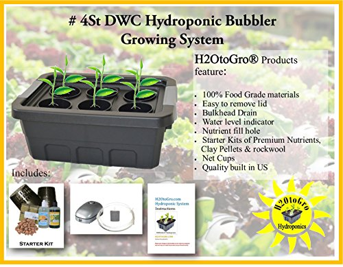 H2OtoGro DWC Self Watering Hydroponic System