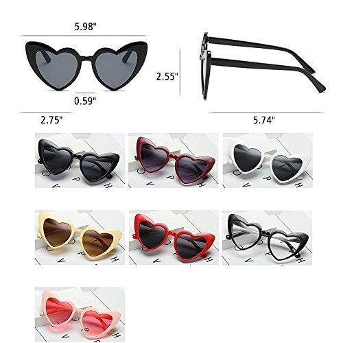 Eyewear Miroir nbsp;noir Soleil Rétro Femme Hd Léger De Taille Forme Lunettes C6 En Aolvo Mignon C4 Pour Cadre Uv400 fille Cœur Plastique Unique wqSOEPU