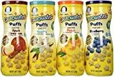 Gerber Graduates Puffs Bundle of 4 – Blueberry, Peach, Vanilla, and Apple Cinnamon