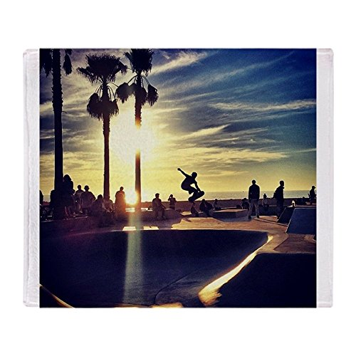 CafePress - CALI SKATE - Soft Fleece Throw Blanket, 50