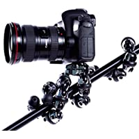 XSories Transformer Classic All-Terrain Flexible Tripod with Sets of Spike, Suction and Rubber Feet (Black/Chrome)