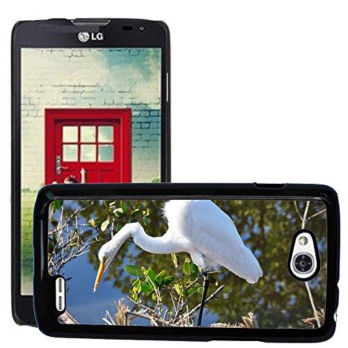 Just Phone Cases Slim Protector Hard Shell Cover Case // M00128154 Egret Florida White Bird Wildlife // LG Optimus L90 D415 (Lg Optimus L90 Florida Case)