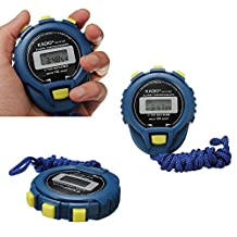 New Digital Handheld Chronograph Timer Stopwatch Sport Counter Odometer Watch with Strap