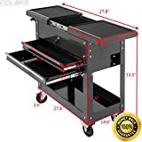COLIBROX--Rolling Mechanics Tool Cart Slide Top Utility Storage Cabinet Organizer 2 Drawer. slide top tool box. torin adjustable table tool cart. snap on roll cart for sale. mac tool box prices.