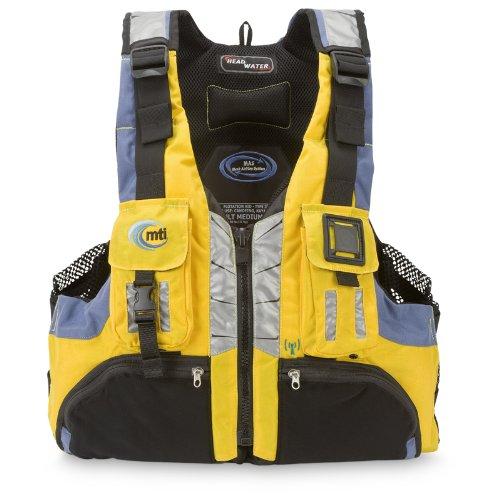 Mti Adventurewear Headwater High Buoyancy Pfd Life Jacket  Cyber Yellow Gray  Medium Large