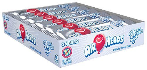 Airheads Bars, White Mystery, Non Melting, Non Melting,Stocking Stuffer, Gift, Holiday, Christmas, 0.55 Ounce, 36 Count (Pack of One) -