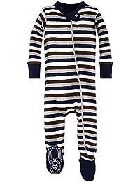 Baby Boys' Sleeper Pajamas, Zip Front Non-Slip Footed...