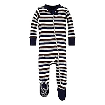 40b0573b0414 Amazon.com  Burt s Bees Baby - Baby Boys Unisex Sleeper Pajamas