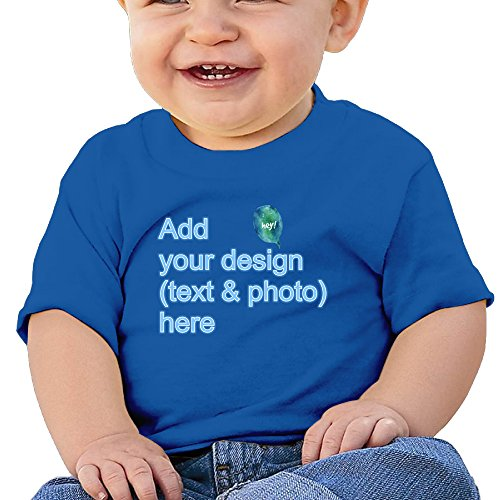 Baby/Toddler Tshirts Create Your Own Personalized Cute Custom Cotton T-Shirts (RoyalBlue 18 Months)