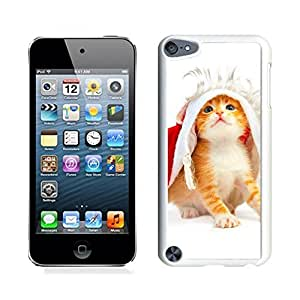 Ipod 5 Cases,Christmas Lingerie Cat White Hard Shell Plastic Apple Ipod Touch 5th Cases