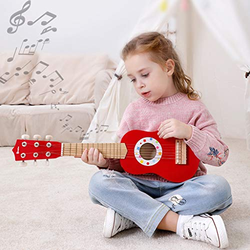 Wooden Guitar, 21Inch Acoustic Toy Guitar for Boys Girls Beginners Childs Children by Little Story