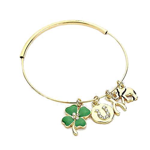 d29acaf34ae6 Irlandesa colgante de buena suerte de color Dorado Brazalete De ...