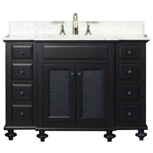 Water Creation LONDON48 London Collection 48-Inch (49-Inch with Countertop) Single Sink Bathroom Vanity Set