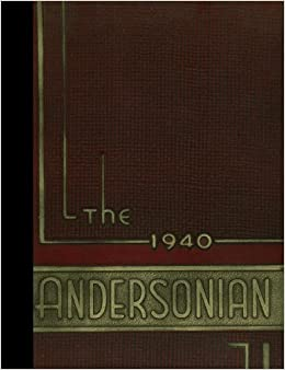 Reprint 1940 Yearbook Anderson High School Cincinnati Ohio 1940