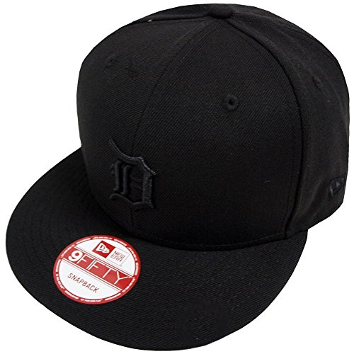 New Era MLB Detroit Tigers Black On Black Snapback Cap 9fifty Limited Edition