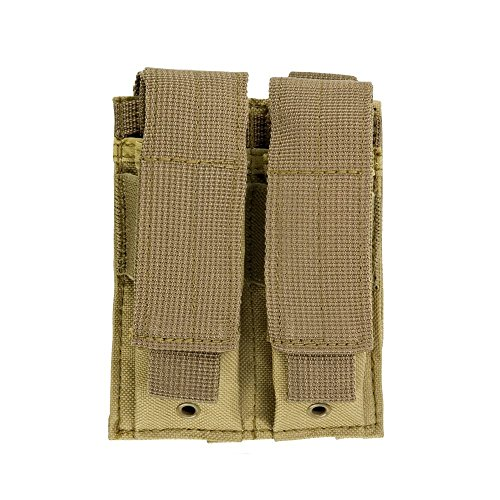 VISM by NcStar Double Pistol Mag Pouch/Tan