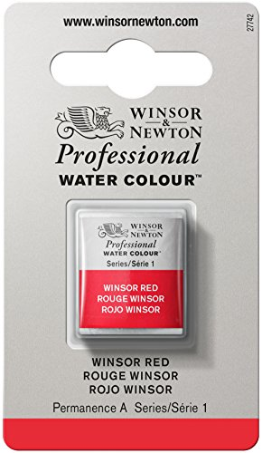 Winsor & Newton Professional Water Colour Paint, Half Pan, Winsor Red