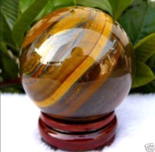 Tiger Eye Quartz Crystal Sphere - AAA 45mm Natural Tiger's Eye quartz crystal sphere ball + stand