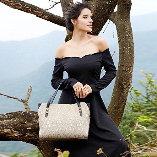 cuir Grand main Mode Sacs Totes femmes Noir épaule BOYATU en à Sac pour xqIpnRF