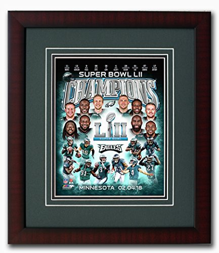 Philadelphia Eagles Super Bowl 52 Champions Collage 8x10 Photo, Framed & Matted (Framed 8x10 Philadelphia Eagles Photo)