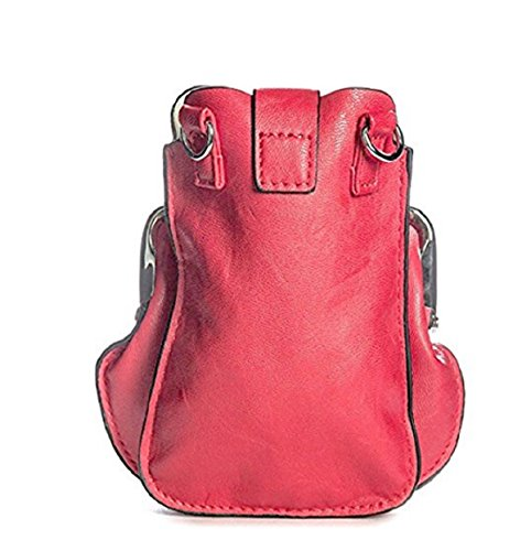 Messenger Cross Faux Body Leather Bag Women's CROSS Little BODY Handbag 003 BAG LeahWard® PINK Party Bag XUf0qx