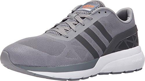 adidas NEO Men's Cloudfoam Flow Shoe,Grey/Dark Solid Grey,9.5