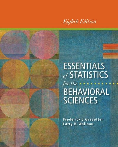 Essentials of Statistics for the Behavioral Sciences (Essentials Of Statistics For The Behavioral Sciences Ebook)