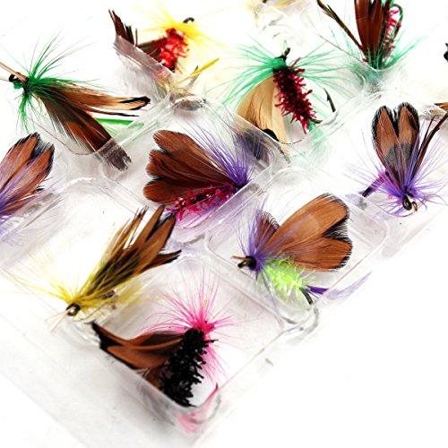 12pcs/lot pesca con mosca gancho anzuelo de acero Tackle artificial de insectos de plumas de ganchos señuelo de pesca Lure...