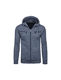 Mens Clothes Charberry Men Outwear Winter Hoodie Warm Coat Jacket Slim Hooded Sweatshirt Sweater