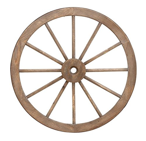 Deco 79 Wood Metal Wagon Wheel, 30-Inch