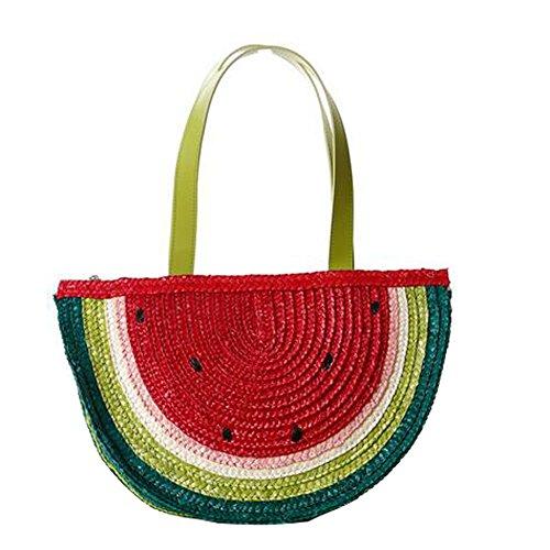 Handbag Bag ANDAY Travel Shoulder Straw Cute Bag Shaped Beach Watermelon Handle Top IRRBpw