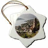 3dRose orn_82943_1 Montenegro, Kotor Bay, Gospa Od Zdravlja Church-Eu47 Wbi0096-Walter Bibikow-Snowflake Ornament, 3-Inch, Porcelain