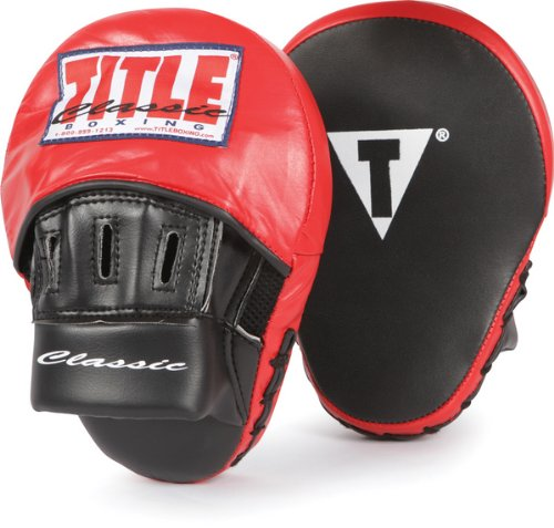 TITLE Classic Aero Punch Mitts, Black/Red
