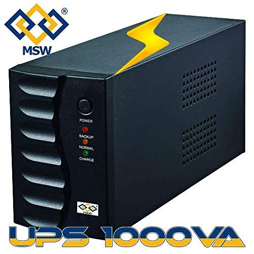 MSW UPS1000VA ups 1000va Gruppo di Continuità con 2 Uscite Bivalenti e Schuko con Funzione AC RESTART UPS 1000VA 1000 VA MY SHOPPING WEB