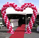 Metallic Heart Shaped Balloon Arch Frame Kit