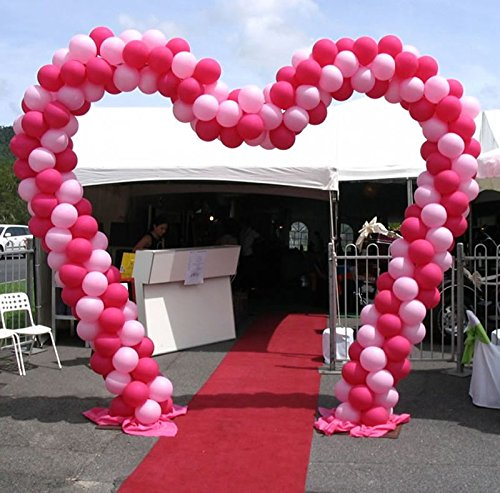 Metallic Heart Shaped Balloon Arch Frame Kit by Joop