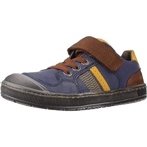 Zapatos Marca De Cordones Color Para Modelo Azul Kickers Niño B6qawB