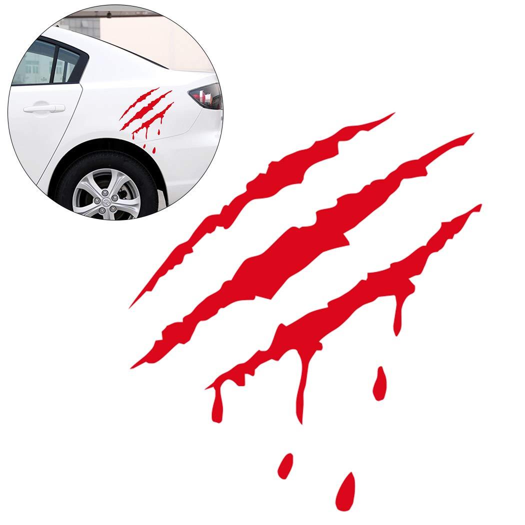 Fansport Car Sticker Bloody Design Reflective Car Decal Decor