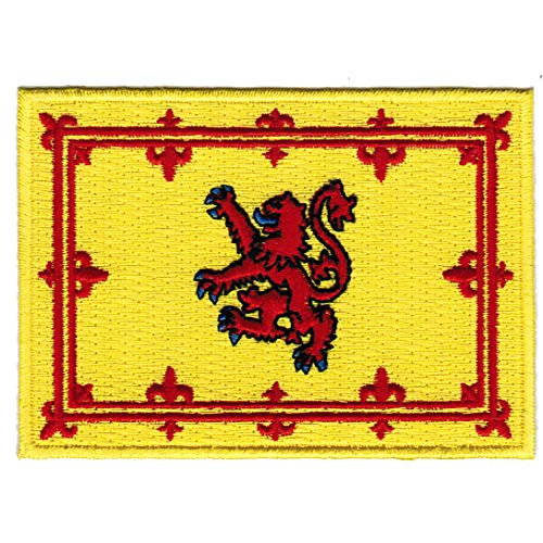 Scotland Lion Rampant Flag Embroidered Patch Scottish Iron-On Royal Standard Emblem