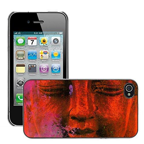 Premio Sottile Slim Cassa Custodia Case Cover Shell // V00001824 Résumé Bouddha // Apple iPhone 4 4S 4G