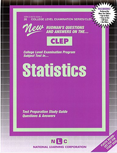STATISTICS (College Level Examination Series) (Passbooks) (COLLEGE LEVEL EXAMINATION SERIES (CLEP))