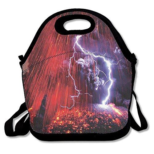 Sakurajima Volcano Lightning Insulated Lunch Bag Picnic Lunc