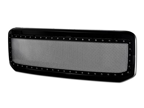 - Velocity Concepts Black Rivet Steel Front Grill Hood Bumper Grille 2005-2007 for Ford F250 F350 Superduty/Ford Excursion