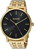 Nixon Men's 'Porter' Quartz Stainless Steel Casual Watch, Color:Gold-Toned (Model: A10572042-00)