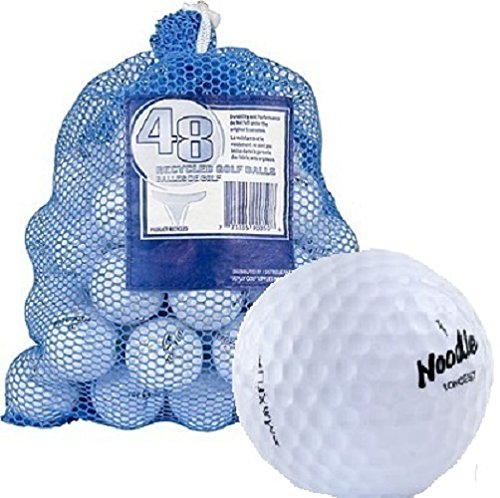 Maxfli 48 Recycled Golf Balls in Mesh Carry Bag (Noodle Aaa Maxfli)